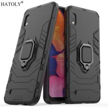 For Samsung Galaxy A10 Case Cover for Finger Ring PC Phone Protective Armor