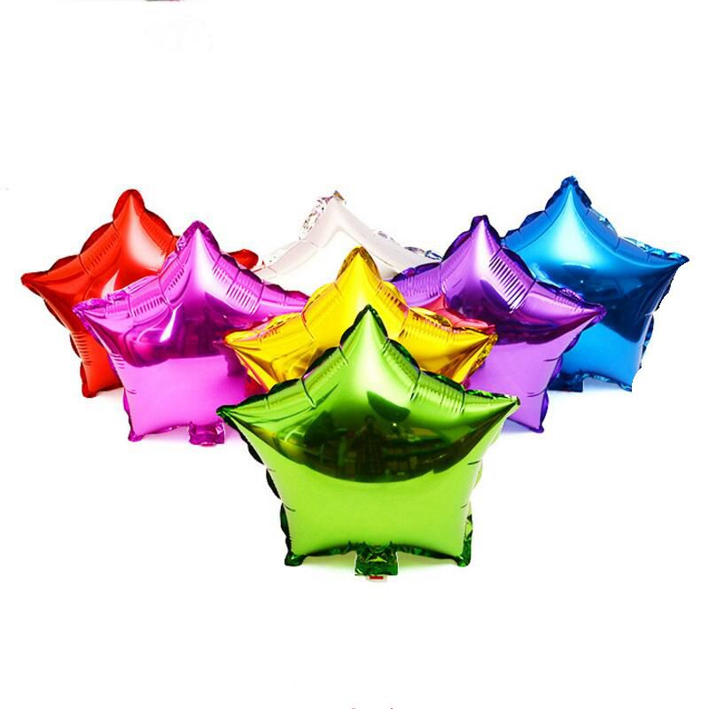20pcs Five-pointed Stars Foil Balloons child Birthday wedding Party Decoration Baby Shower Inflated toy meteor Balloon wholesale