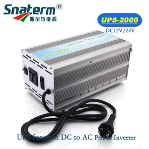 UPS-2000 2000Watts DC12V 24V AC 220V Modified Sine Wave Power Inverter converter With AC Battery Chargers & UPS power supply
