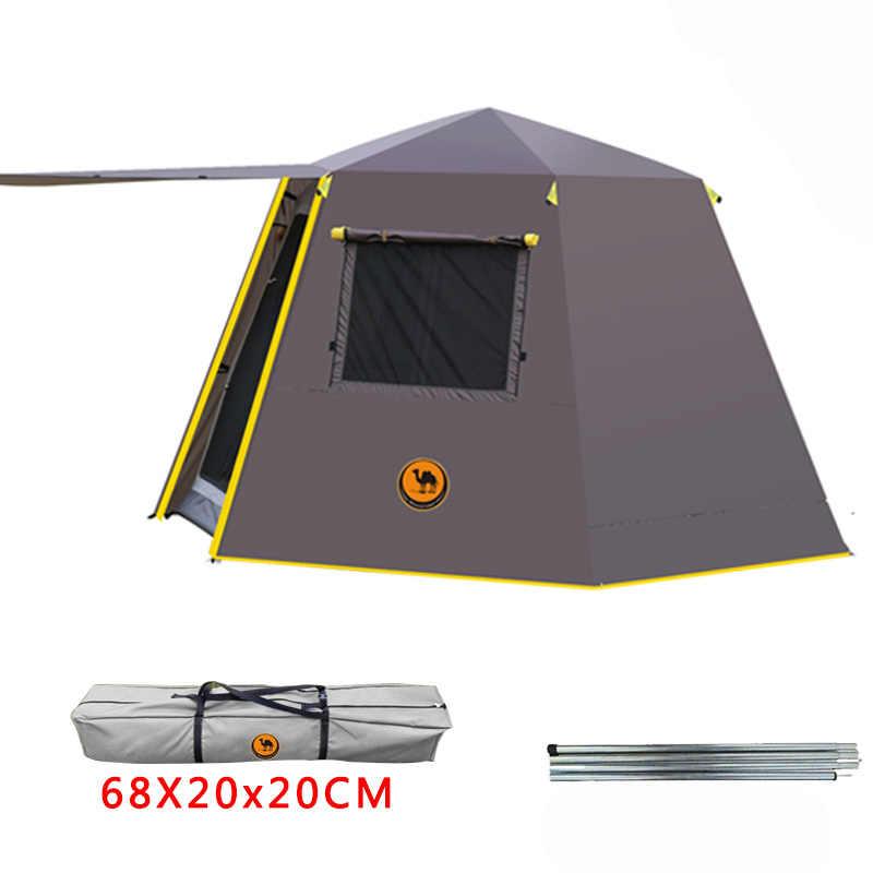UV hexagonal aluminium pol automatische Outdoor camping wilde große zelt 3-4persons markise garten pergola 245*245*165CM