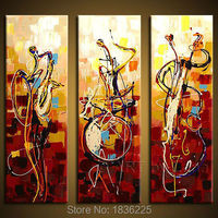 100 Handpainted Musical Instrument Modern Paintings Scrapbook Canvas Wall Paper Modern 3 Panels For Halloween Christmas