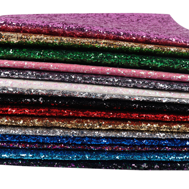 22*30CM Solid Color Glitter Fabric Apparel Sewing Accessories Garment Decorative Sewing Material Wedding Party Decoration 2