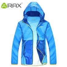 RAX Men Women Waterproof Windproof Jacket UV-Proof Outdoor Jacket Breathable Ultra-light Hiking Men Jackets Windbreaker Men