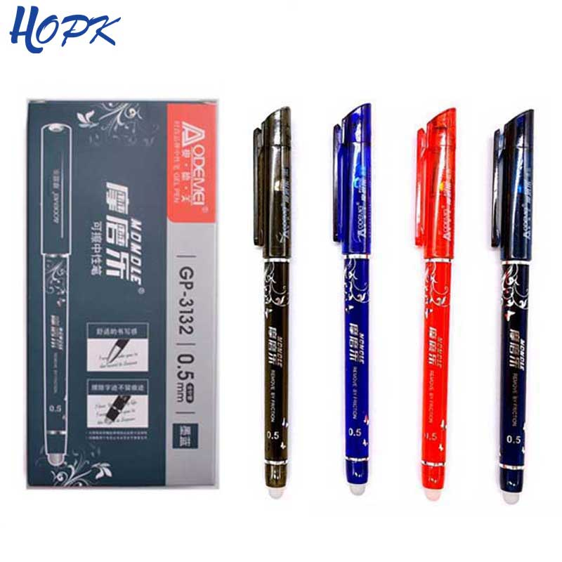 Erasable Washable Handle Erasable Pen Refill Set 0.5mm Blue Ink Erasable Ballpoint Pen For School Office Writing Tool Stationery