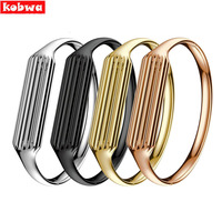 Fashion Accessory Genuine Stainless Steel Watch Band Luxury Smart Wrist Strap Bracelet Bangle For Fitbit Flex