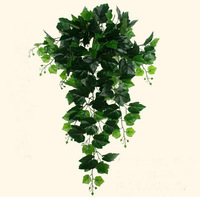 1 M ירוק צמח ענבים תלייה מלאכותי אייבי עלים עלים עבור מסיבת חג החתונה קיר תליית קישוט עיצוב-1 והמקום בבית