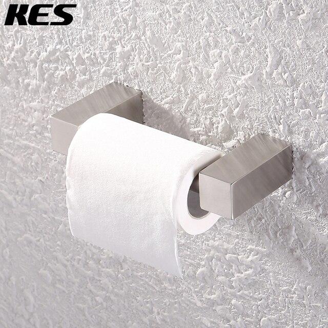 KES SUS 304 Stainless Steel Toilet Paper Holder Storage Bathroom Kitchen  Paper Towel Dispenser Tissue Roll