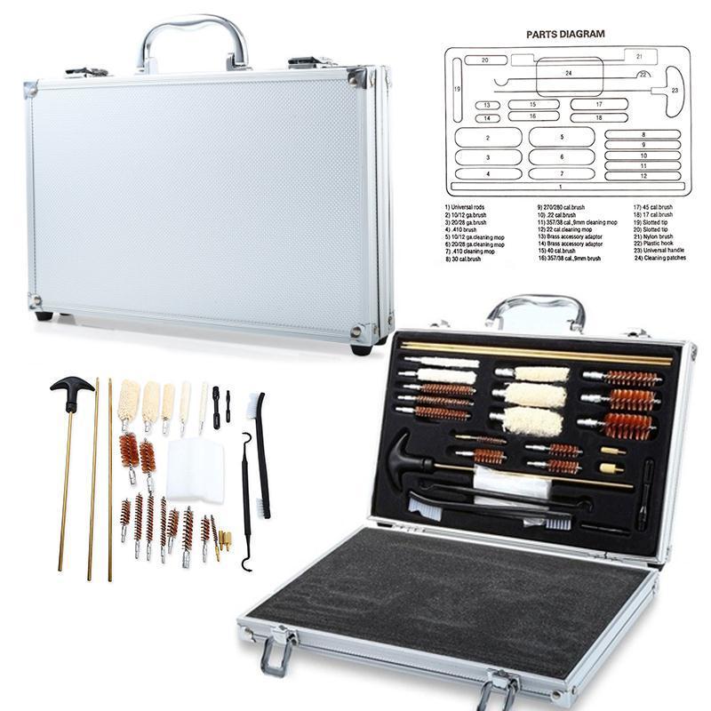 Hunting Shot gun Cleaner Kit Set With Case Rifle Accessories Gunsmithing & Maintenance Hand Shot Gun Clean Tool фляга shot gun