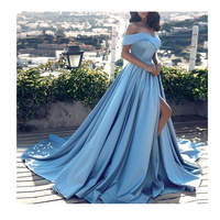 Fish Tail Sexy Long Dresses V Neck Backless Party Gowns Sleeveless Sweep Train Cheap Tulle Party Dress