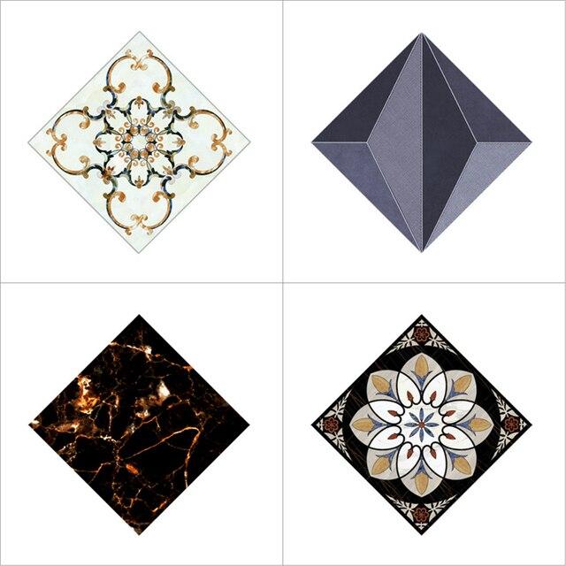 10pcs Diagonal Tile Seam Stickers Self Adhesive Floor Wall Decorative Tiles Sticker For Livingroom