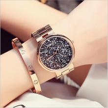 GUOU Reloj de Diamantes de Lujo Relojes de Las Mujeres de Moda Brillante Rhinestone de Las Mujeres Relojes Señoras Reloj saat relogio feminino reloj mujer