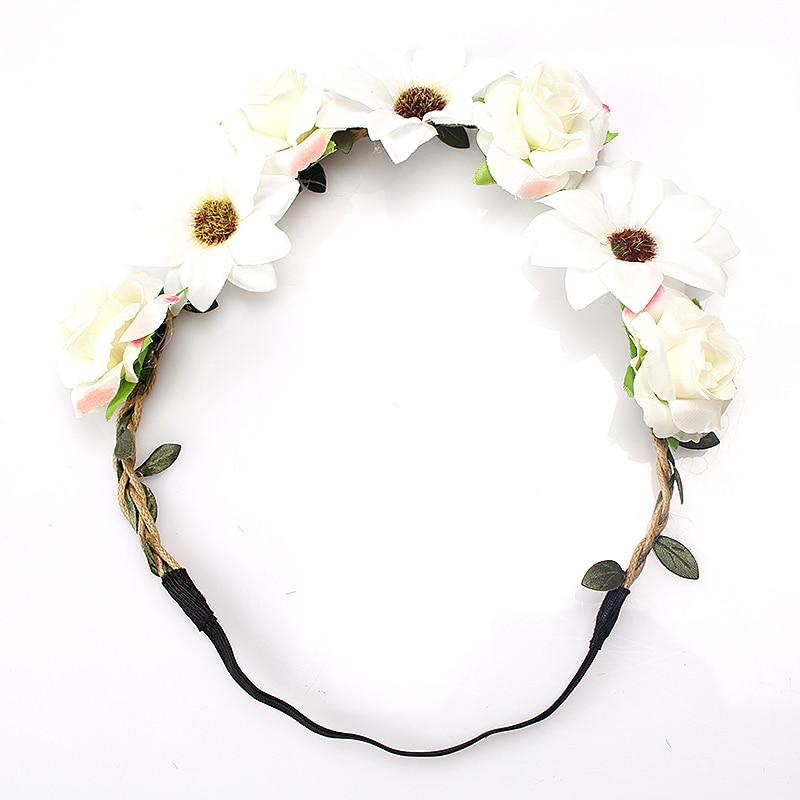 M MISM Gadis Gaya Bohemian Flower Bud Elastis Karet Garland Vine - Aksesori pakaian - Foto 3