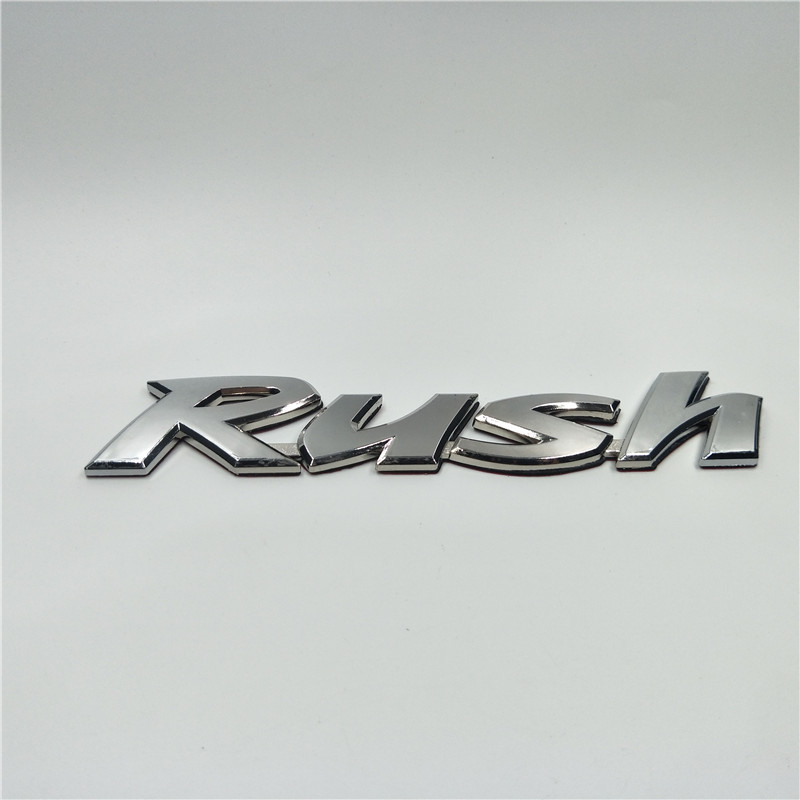 For Toyota Rush Car Styling Letter Badge Auto Rear Trunk Emblem Logo Sticker emblem