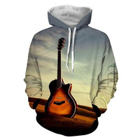 2017 New Fashion Cool Sweatshirt Hoodies Men Women 3D Print Guitar Electric Mix Fashion Hot Style
