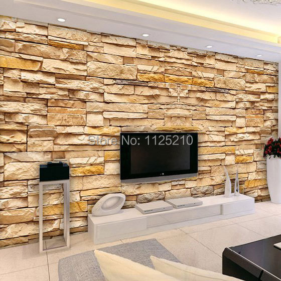 extraordinary european style living room design 3d house free pictures | Free shipping 3D stereoscopic brick pattern background ...