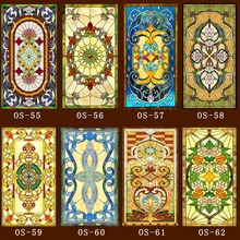 Window-Film Stained-Glass Self-Adhesive Frosted Home-Foil-Stickers Electrostatic Custom