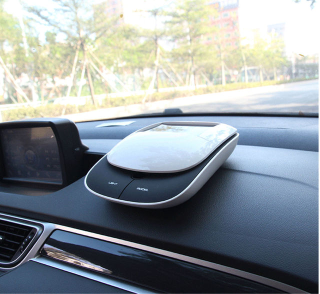 Car Perfume Air Freshener Interior Decoration Solar Car Nano Pure Intelligent Control Air Purifier Purification Box