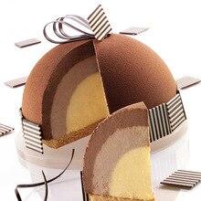 Moules à gâteau ronds en Silicone, pour faire cuire des glaces et des desserts Mousse, outils de décoration, poêle à pâtisserie