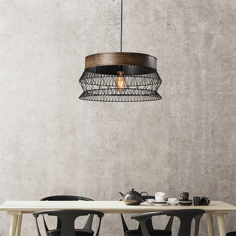 Loft Retro Industrial Wind Cafe Bar E27 LED Pendant Lamp American Village Iron Reticular Kitchen Vintage Hanging Lights Fixture