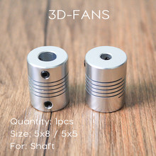 5x8x25mm / 5x5x25mm / 6.35x8x25mm Flexible Coupling Coupler Flexible Shaft For 3D Printer Stepper Motor(China)