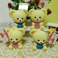 The New Original Packaging 11cm Double Color Light Bear Squishy Mobile Phone Accessories With Labels