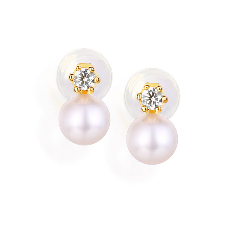 JXXGS Jewelry 14K Gold Hot Sale Natural Freshwater Pearl Stud Earrings For Women