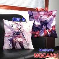 Decorative pillows 43x43CM anime Game guns girl pillow Kiana Raiden Mei cushion soft Square Two-sides Printed pillows Christmas