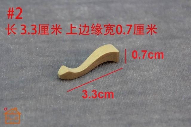 Bricolage jambe meubles en bois maison de poupée miniature 4 pièces/ensemble articles ménagers 1/12 échelle # B007