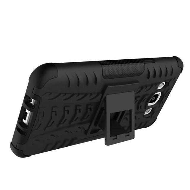 Anti-Knock Case for Samsung Galaxy J7 2016 Cover,Hybrid TPU+PC Phone Kickstand Case for Samsung J7 2016 SM-J710F J7108 Cover