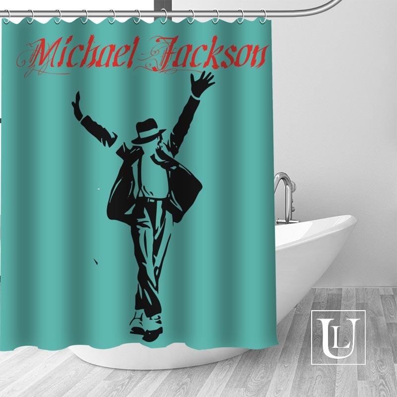 Hot New Eco-friendly Michael Jackson Shower Curtain Custom Bathroom Curtain modern Polyester Fabric Thick Waterproof Mildew
