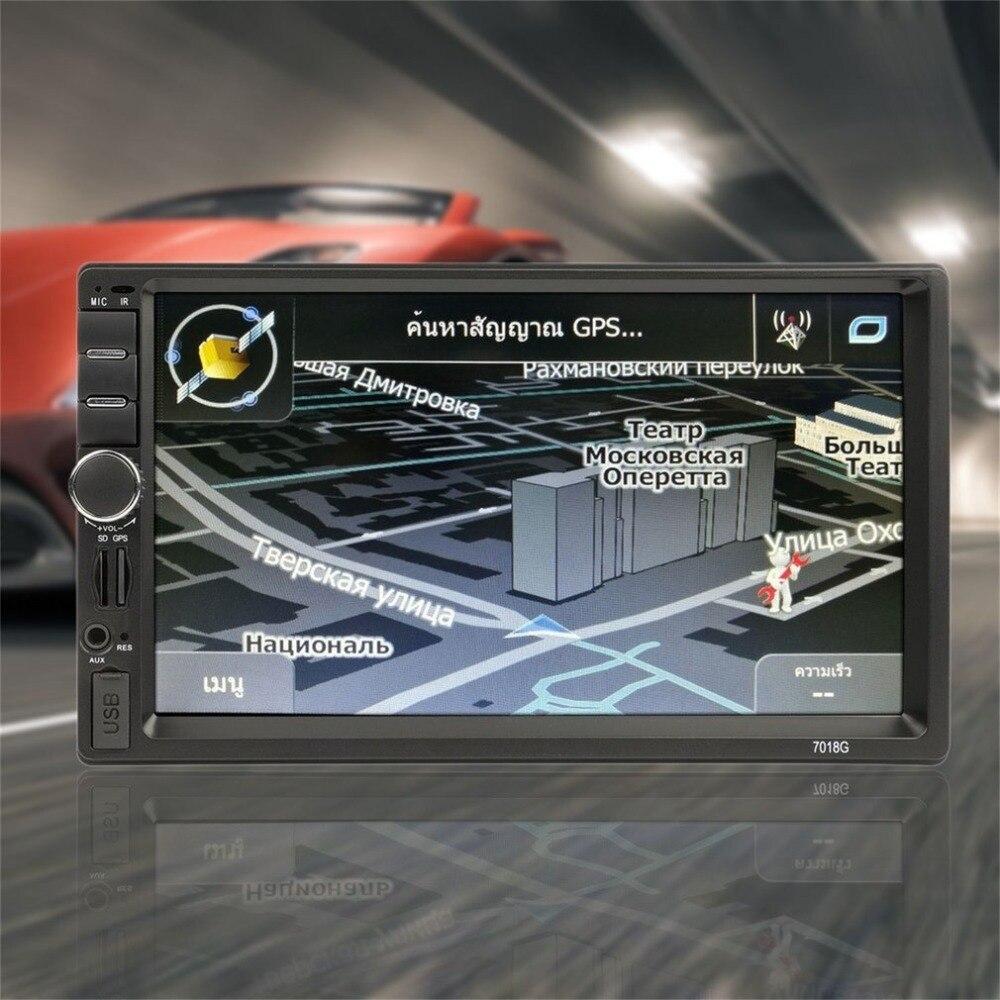 7018G 2 Din voiture FM Radio lecteur multimédia Navigation GPS 7