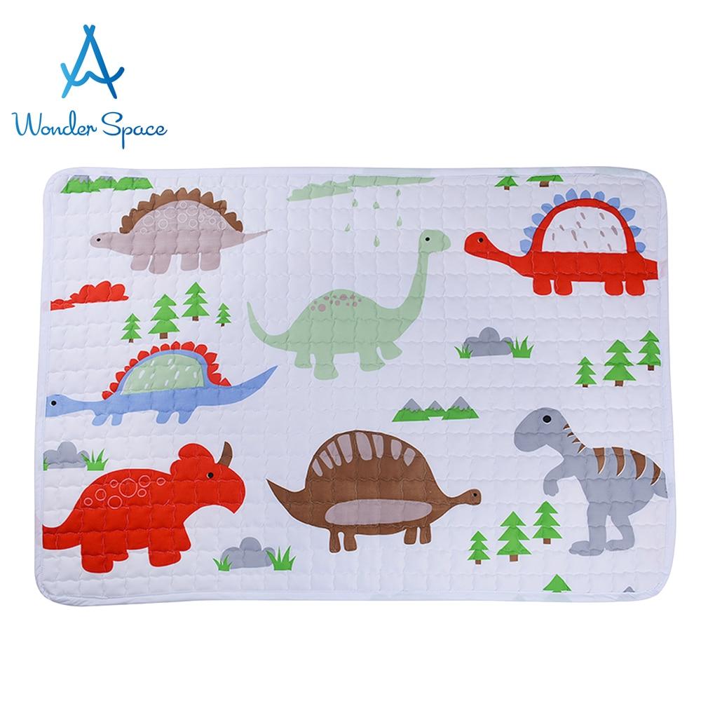 Baby Play Mat Soft Cotton White Dinosaur Kids Tipi