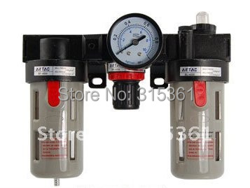 Free Shipping 2PCS/Lot BC3000 3 In 1 Pneumatic Air Filter Regulator Lubricator 10pcs free shipping mic5219 3 3bm5 mic5219 3 3ym5 mic5219 lg33 sot23 5 lod regulator 100