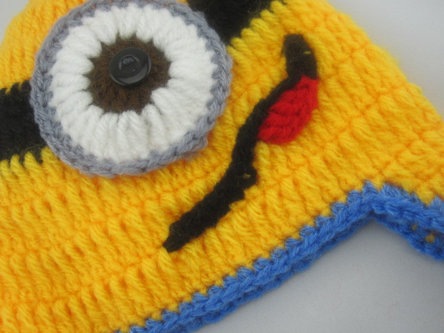 0 3M Baby earmuffs manual wool hat lovely yellow one cartoon eaves beanie 4 color in Hats Caps from Mother Kids