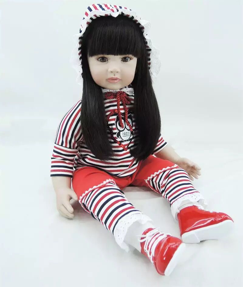 Soft Silicone Reborn Baby Doll 22 Vinyl Girl Brinquedos Doll Lifelike Newbabies Play House Toys Bebe Reborn Doll for Sale 22 lifelike toddler baby bonecas girl doll house vinyl adora bebe reborn menina de silicone christmas toys juguetes brinquedos