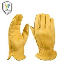 OZERO новые мужские рабочие перчатки из оленьей кожи защитные рабочие сварочные теплые перчатки для мужчин 8003
