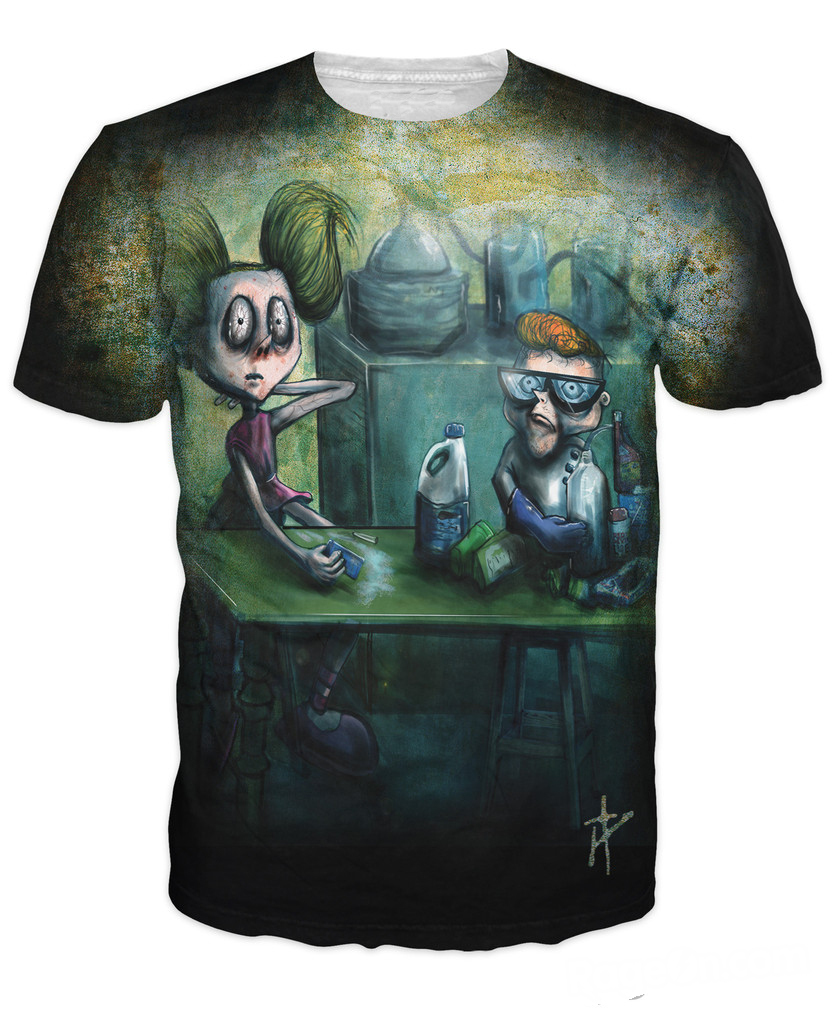 Women Men 3d Tee Dexters Meth Lab T-Shirt Dexters Laboratory Cartoon Network Dee-Dee Dexter T Shirt Summer Style Fashion Tops ...