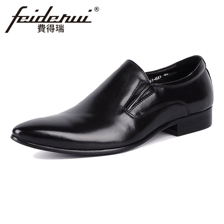 Big Size Genuine Leather Mens Loafers Classical Pointed Toe Slip on Handmade Man Footwear Italian Comfortable Casual Shoes YMX87 pl us size 38 47 handmade genuine leather mens shoes casual men loafers fashion breathable driving shoes slip on moccasins