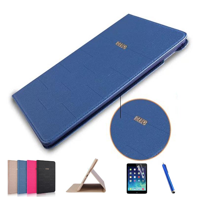 New fashion slim original Business smart case for Apple ipad air ipad 5 luxury stand Flip Silicone leather cover+Pen+screen film stand flip leather case for apple ipad mini 2 smart cover case gumi brand screen protectors stylus pen