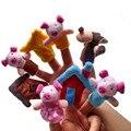 8 шт. Животных Finger Кукол Плюшевые Детский Ребенка Раннего Образования Игрушки Подарок Притворяться, Играть В Игрушки и Игры