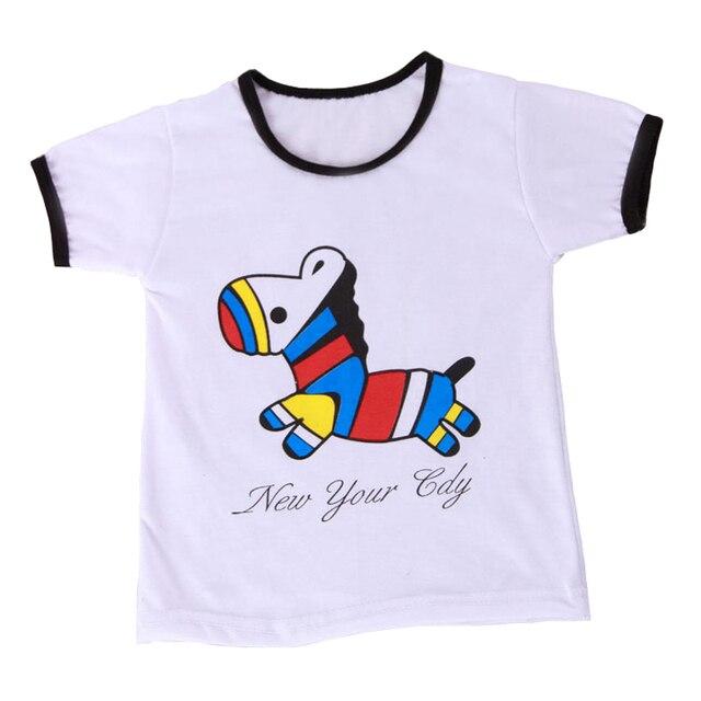 Newest Item Boys Girls T Shirt Cartoon Dinosaur Four Style T-Shirts Short Sleeve Children's Clothing Kids Baby Summer Tops