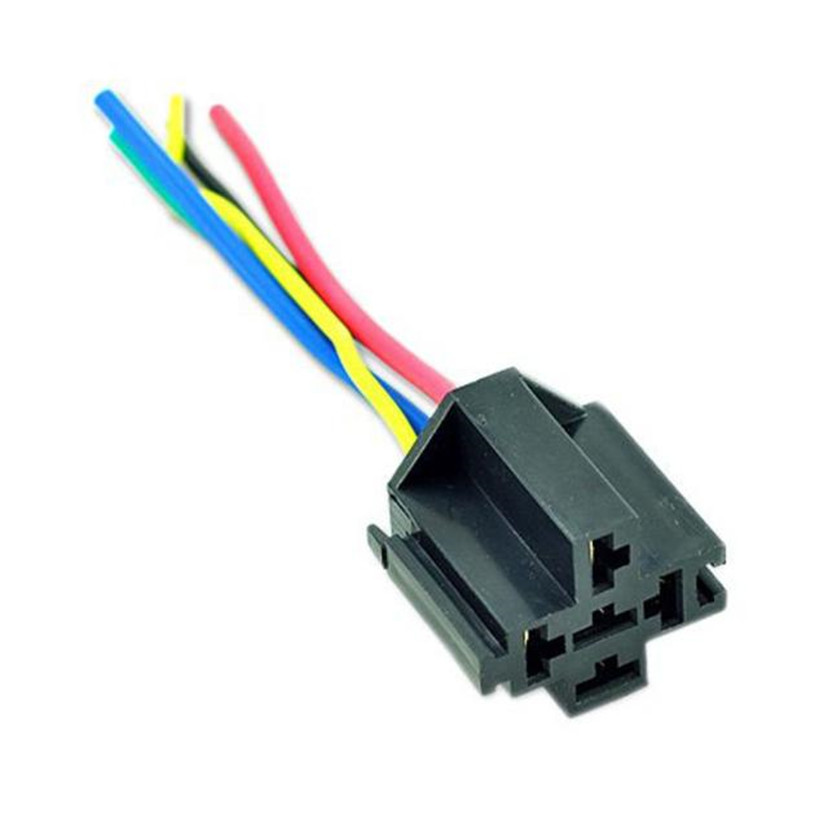 Car Styling 5 Pin Cable Wire Relay Socket Harness