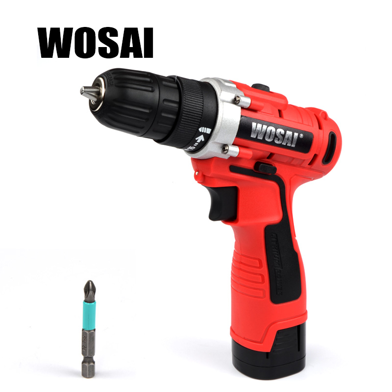 WOSAI 16V DC Household Lithium-Ion Battery Driver Power Tools Cordless Drill Electric Drill 18v dc lithium ion battery cordless drill driver power tools screwdriver electric drill with battery included