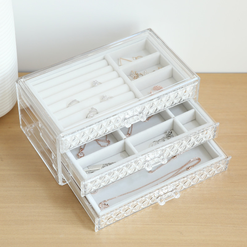 Transparent Jewellery Box Storage Boxes Bins Rectangular Polystyrene Plastic Transparent Receiving Box Tabletop Packing Box-in Storage Boxes u0026 Bins from ... & Transparent Jewellery Box Storage Boxes Bins Rectangular Polystyrene ...