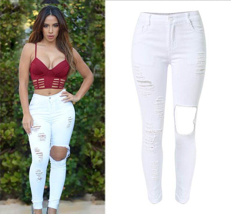 Online Buy Wholesale white tight jeans from China white tight ...