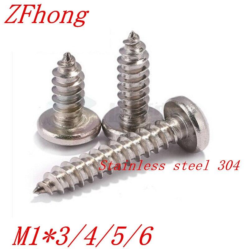 1000/pm1.4/en acier inoxydable 3/x 3/x 3/mm Phillips Vis /à t/ête plate