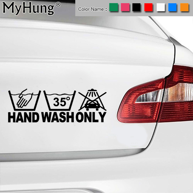 17 86cm new vinyl hand wash only car body stickers bike motorcycle windows car decals