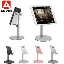 купить Arvin Adjustable Aluminum Alloy Cell Phone Tablet Holder For Ipad Pro Iphone XS XR Samsung Tablet Mobile Phone Desk Stand Mount по цене 914.71 рублей