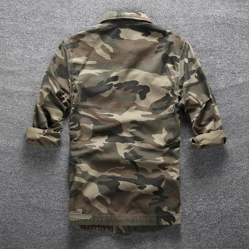 Hommes en plein air randonnée escalade Sports militaires chemises printemps automne coton Camouflage à manches longues respirant tactique Cargo chemise - 4