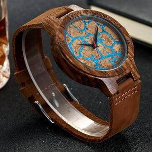 Image 1 - Premium Cork Wood Marble Design Wristwatch Mens Women Wrist Quartz Watch Men Ladies Soft Material Leather Strap Decorate Watches